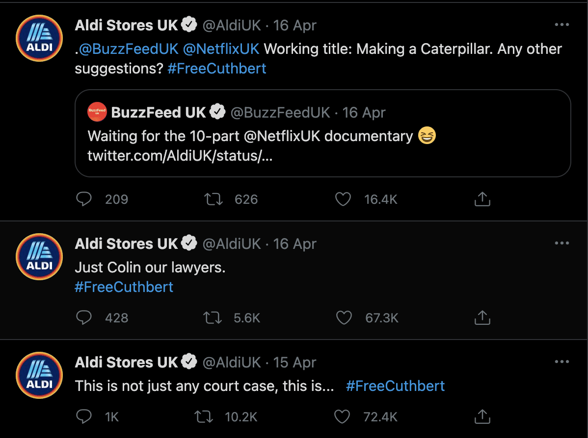 #FreeCuthbert Netflix Pitch