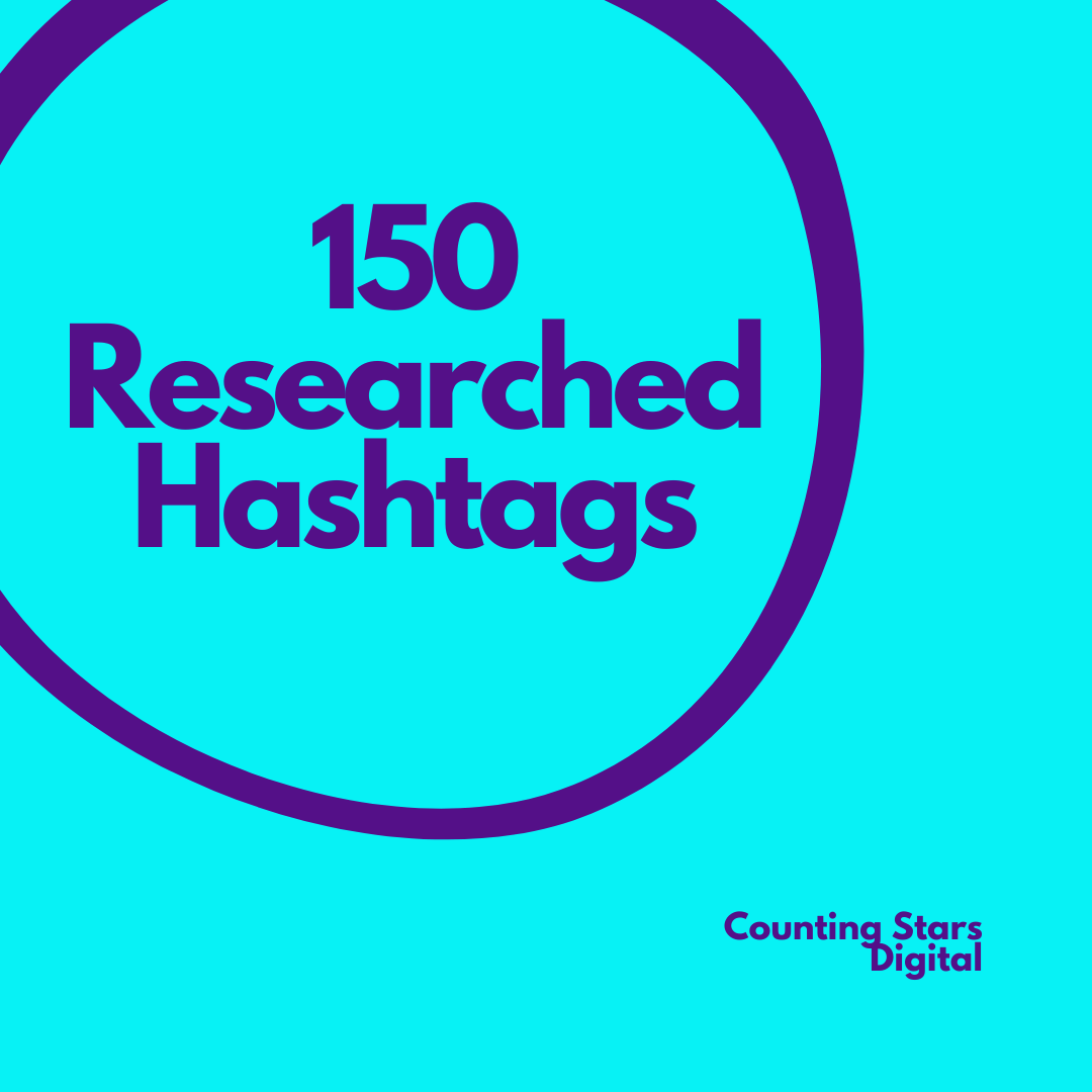 Researched hashtags